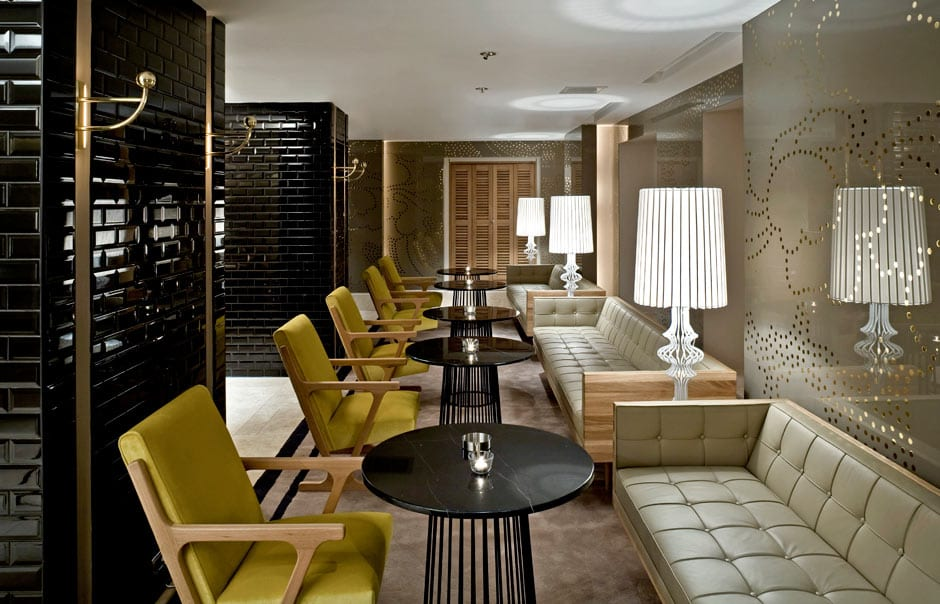 The lobby lounge area of Witt Istanbul Hotel. © Witt Istanbul Hotel