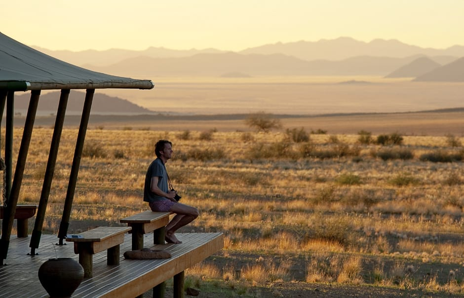 Morning view. Wolwedans Boulders Camp, Namibia. © Wolwedans