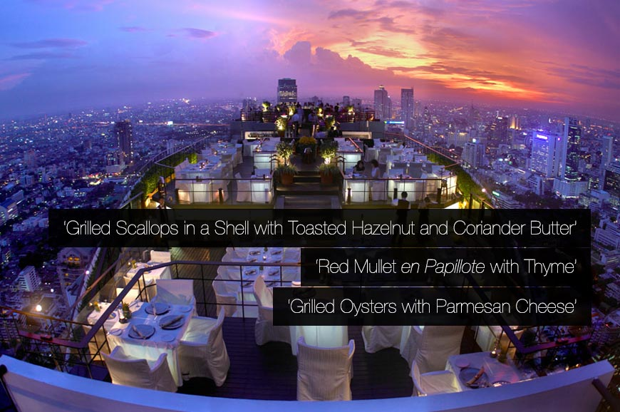 Vertigo grill and moon bar bangkok luxury hotels for Hotel luxury quotes