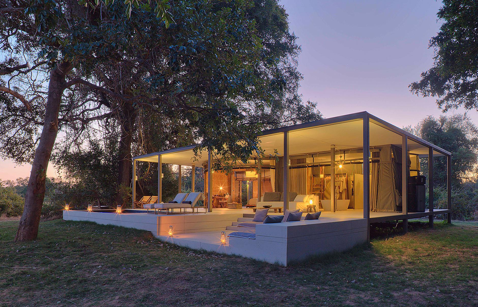 Zen in zambia the new luxury of chinzombo luxury hotels for Modern house plans in zambia