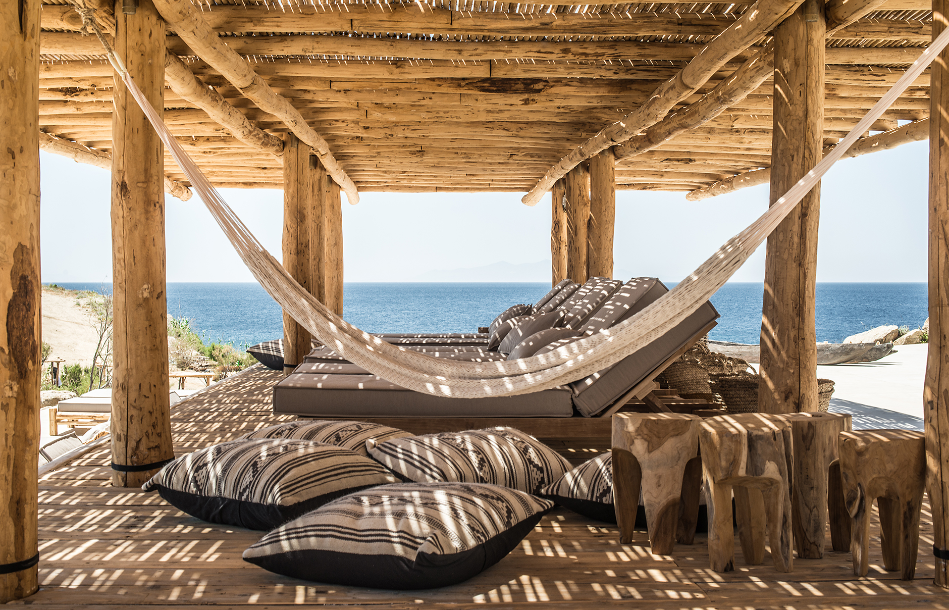 rediscover a rustic beach experience at scorpios mykonos in greece - Rustic Hotel 2015